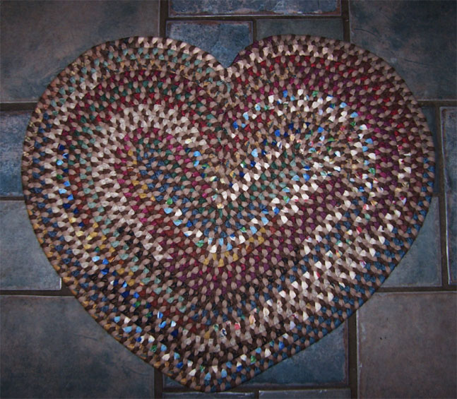 Mayflower Heart Alpaca Rug